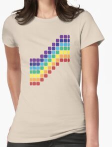 Rainbow Staircase Womens Fitted T-Shirt