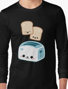 Happy Flying Toast Twins Long Sleeve T-Shirt