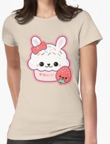 Cute Bunny Cake Womens Fitted T-Shirt