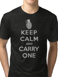 Keep Calm and Carry One Tri-blend T-Shirt