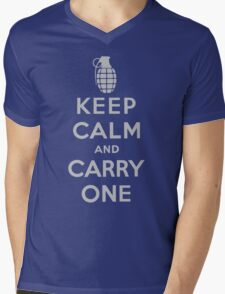 Keep Calm and Carry One Mens V-Neck T-Shirt