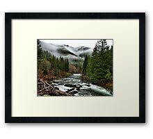 Winters Joy ~ Quartzville Creek Winter ~ Framed Print