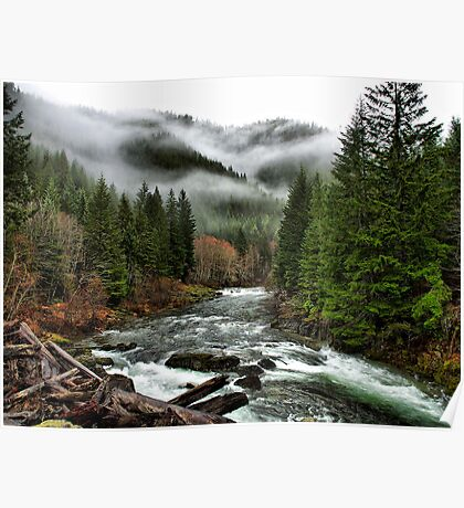 Winters Joy ~ Quartzville Creek Winter ~ Poster