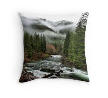 Winters Joy ~ Quartzville Creek Winter ~ Throw Pillow
