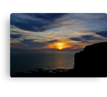 Birling Gap at Sunset Canvas Print