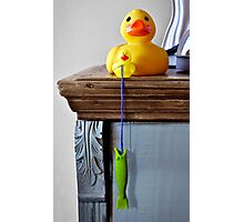 I go fishin' from the cabinet and catch a fish! Photographic Print