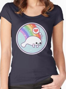 Cute Manatee Women's Fitted Scoop T-Shirt