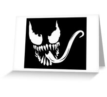 Venom face Greeting Card