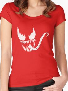 Venom face Women's Fitted Scoop T-Shirt