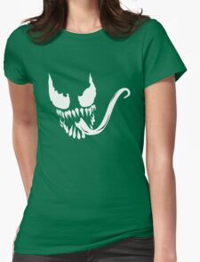 Venom face Womens Fitted T-Shirt