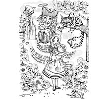 Alice & The Pig Baby Photographic Print