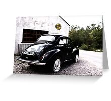 The Morris Minor  Greeting Card