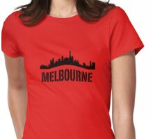 Melbourne curved Womens Fitted T-Shirt