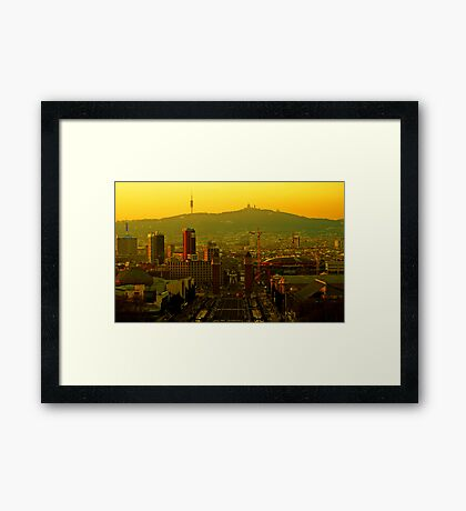 Sunset on Plaza Espanya Framed Print