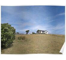 Rosnieger, ANGLESEY, house with horses Poster