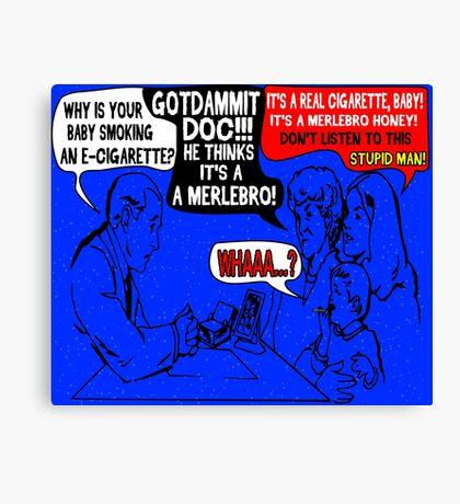 Ridiculous Humor- Smoking Babies Comic Canvas Print