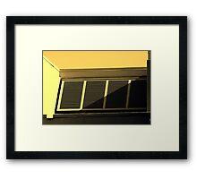 Hurricane Shutters - Split tone Framed Print
