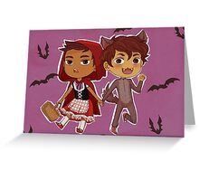 Little Red & Wolf (postcard) Greeting Card