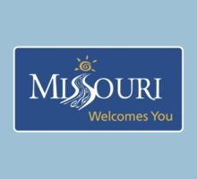Missouri Welcomes You Road Sign by worldofsigns