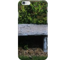 Stone Bench in a Park iPhone Case/Skin