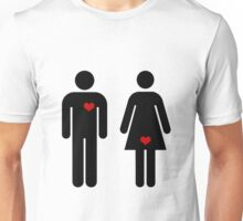 Girls Think With Their... Unisex T-Shirt
