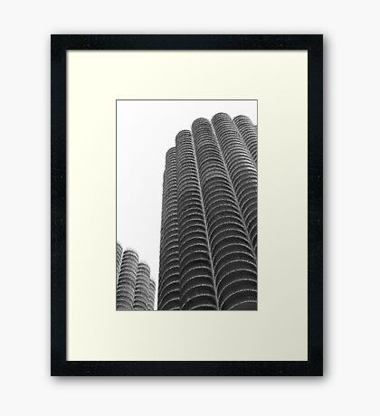 Marina Towers in abstract Framed Print