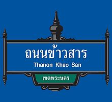 Khao San Road Sign, Bangkok, Thailand by worldofsigns