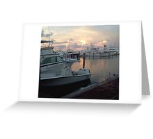 Dinner at the Docks Greeting Card