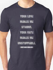 Cristiano Ronaldo Quote Unisex T-Shirt