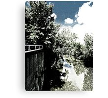 A view of Swan Creek from an overpass . . .  Canvas Print