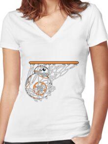 BB-8 Slam Dunk! Women's Fitted V-Neck T-Shirt