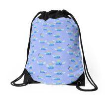 Blue Angelmon  Drawstring Bag