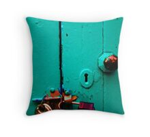 locked and forgotten  Throw Pillow