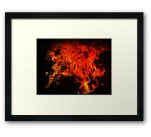 Fire In My Blood Framed Print
