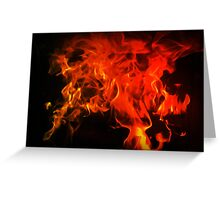 Fire In My Blood Greeting Card