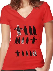 ZOOlogy - Penguin I Women's Fitted V-Neck T-Shirt