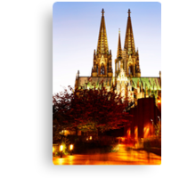 night on the city Dom Canvas Print