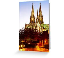 night on the city Dom Greeting Card