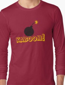 KABOOM cartoon explosion noise with bomb Long Sleeve T-Shirt