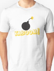 KABOOM cartoon explosion noise with bomb T-Shirt