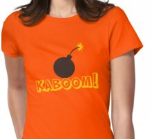 KABOOM cartoon explosion noise with bomb Womens Fitted T-Shirt