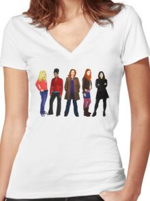 Doctor Who - The Companions Women's Fitted V-Neck T-Shirt
