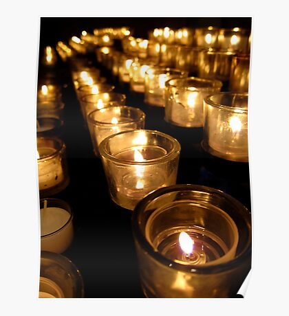 Prayer Candles at Washington National Cathedral Poster