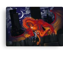 Yeah you're a dragon Canvas Print