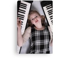 Keyboard player Canvas Print