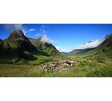 Glencoe in the Highlands of Scotland. Photographic Print