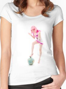 Planetary Takeover Pinup Women's Fitted Scoop T-Shirt