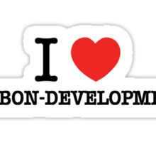 I Love RIBBON-DEVELOPMENT Sticker