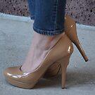 Beige High Heels by photobylorne