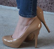 Beige High Heels by photobylorne